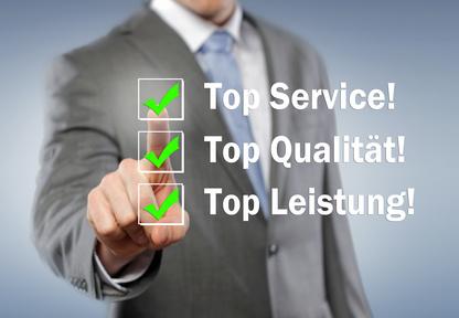 Service, Qualität und Leistung
